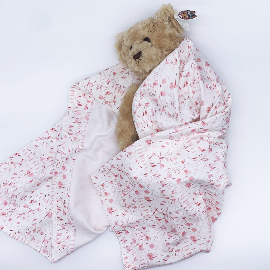 linda cabot design confetti pink baby bundle