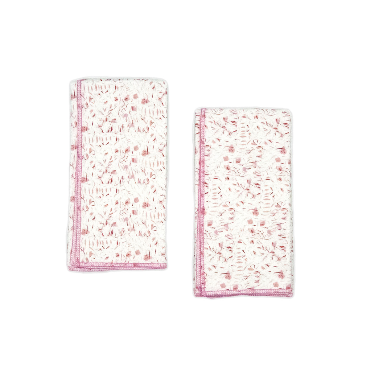 pink organic baby burp cloths