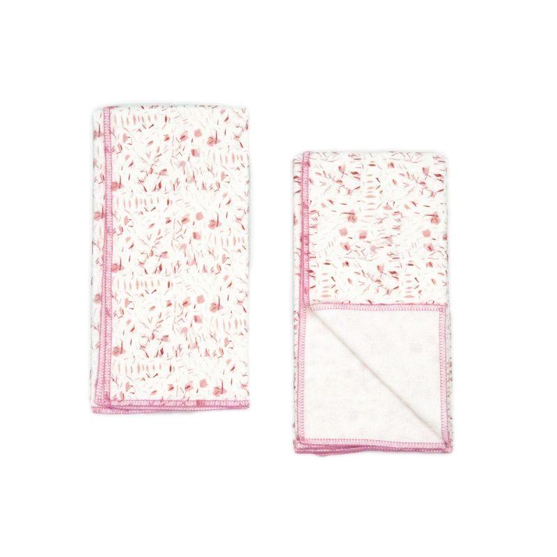 pink organic cotton baby cloths