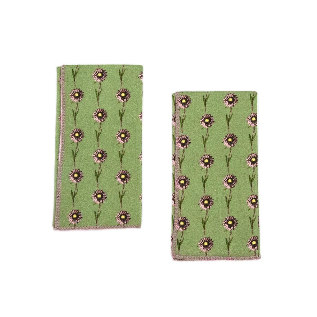 green baby burp cloth