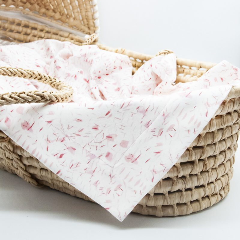 pink and white baby blanket for girls