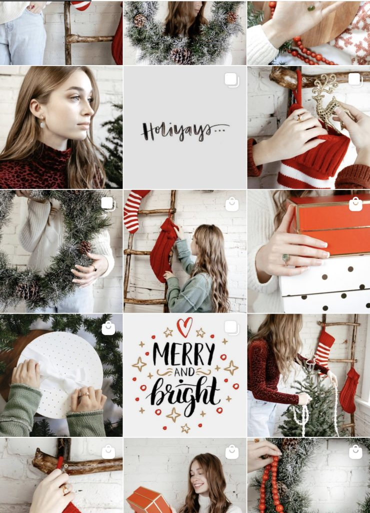 Noisette Jewelry Holiday Instagram Feed
