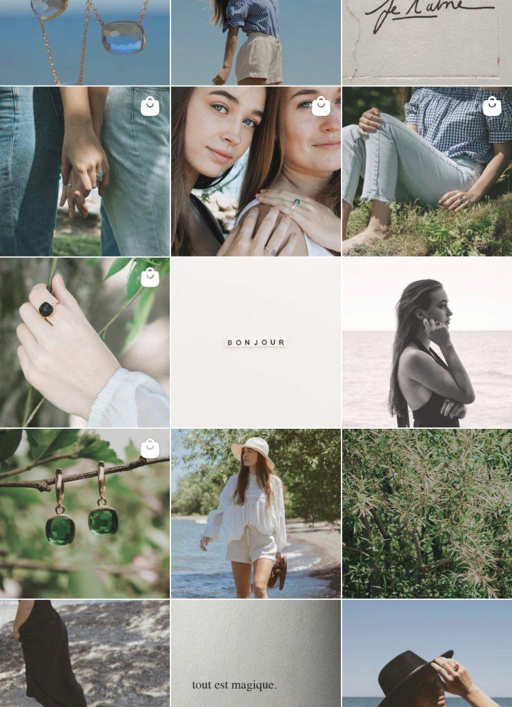 Noisette Jewelry Summer Instagram Feed