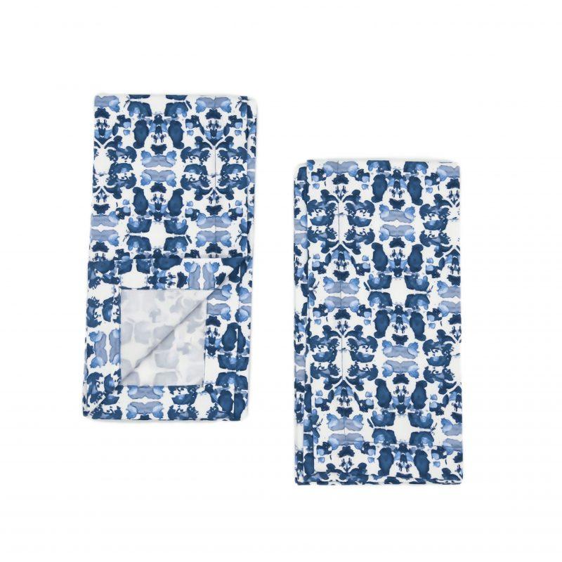 linda cabot design organic cotton blue napkins
