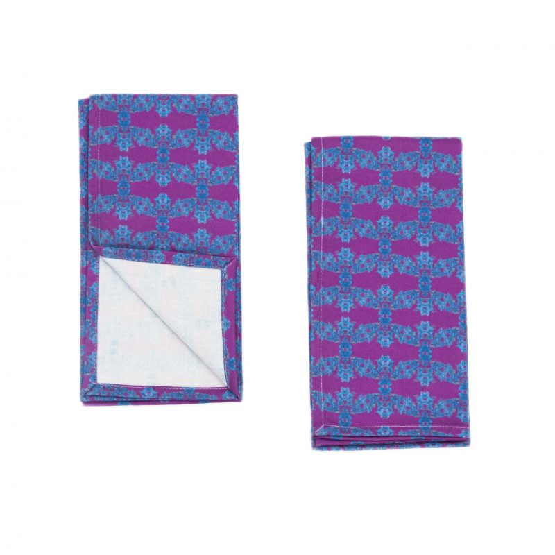 organic purple and blue napkins