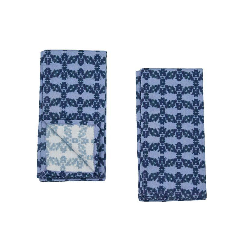 blue organic cotton napkins