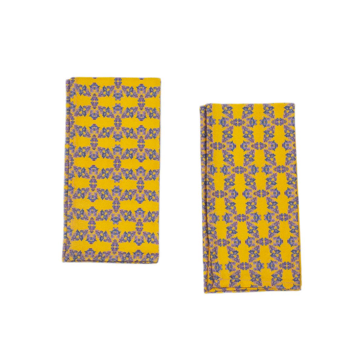 yellow napkins