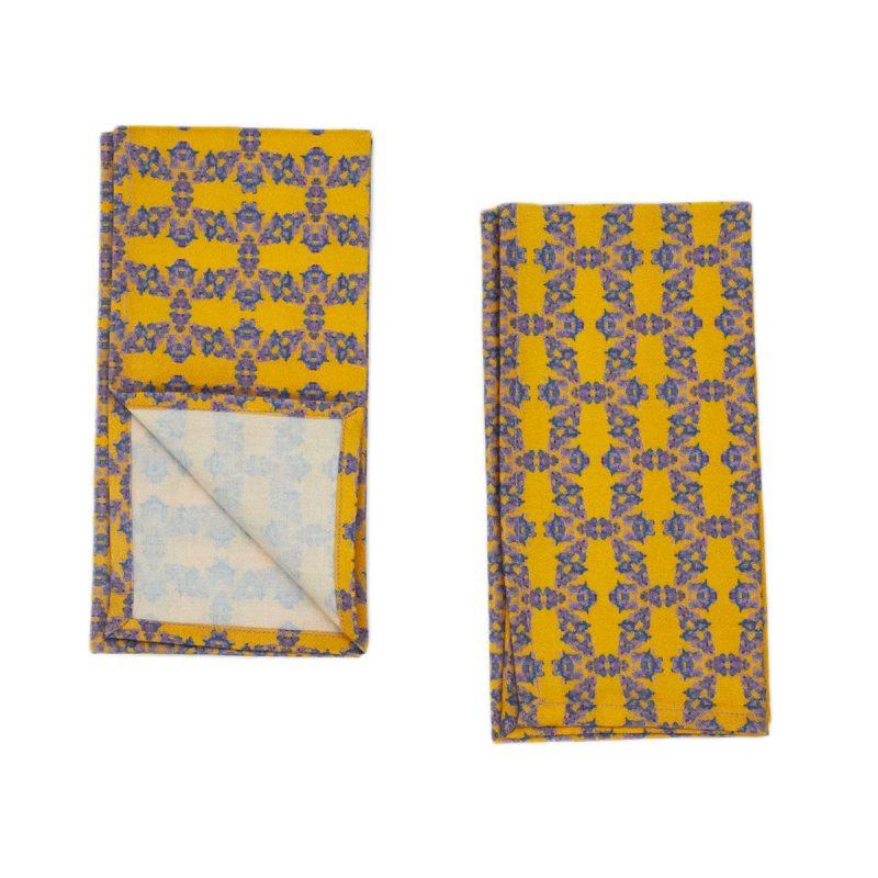 yellow organic napkins