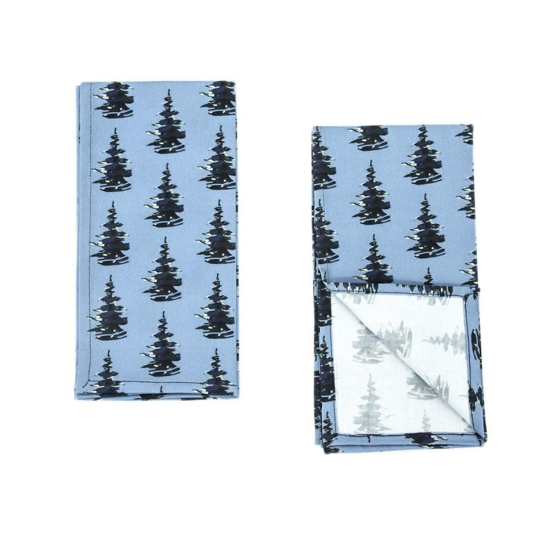 organic blue napkins