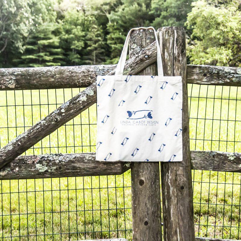 linda cabot design organic cotton tote bag