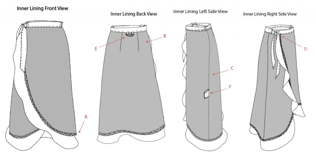 skirt design tech pack