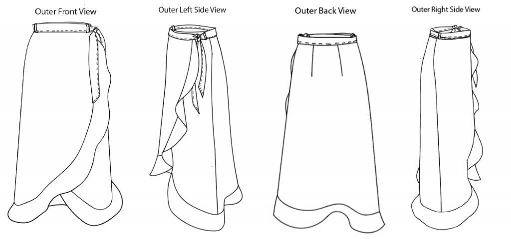 skirt design graphic