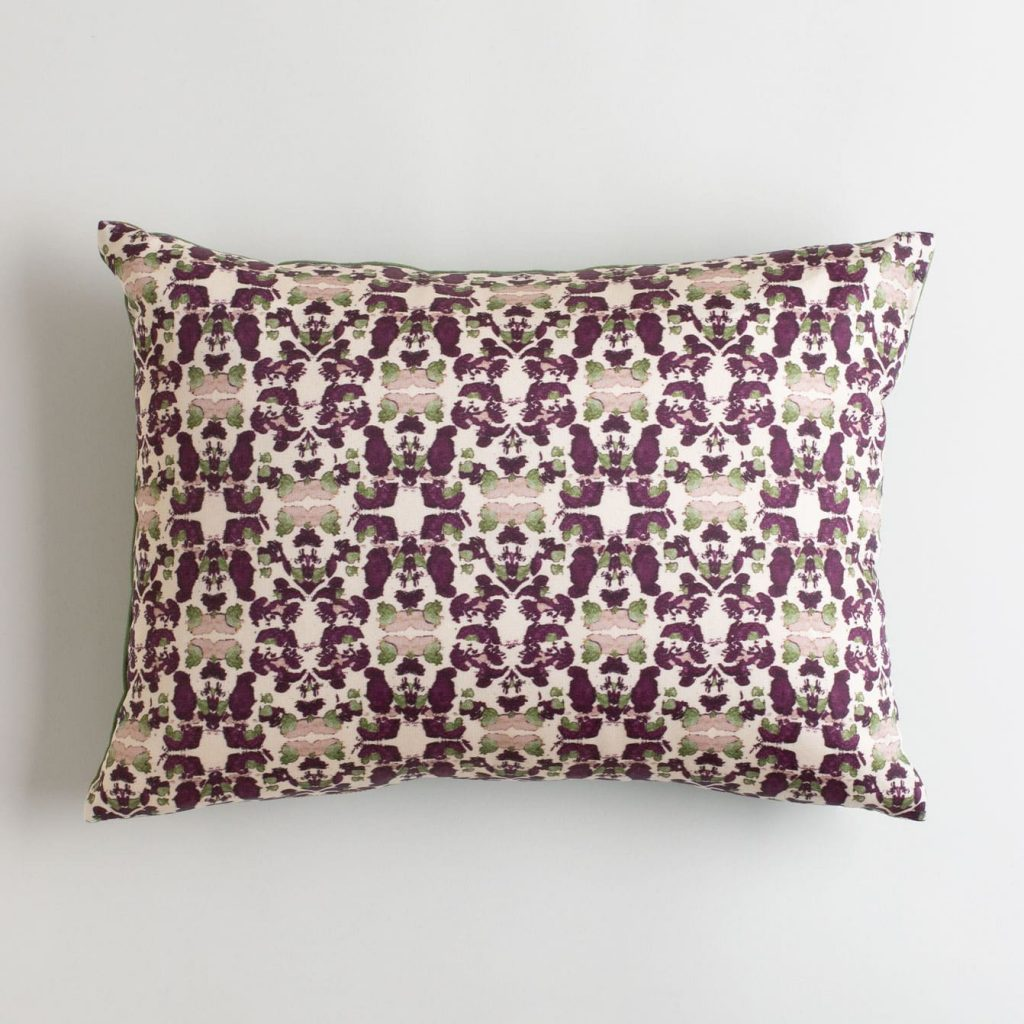 purple and green pillow perfect gift for fall
