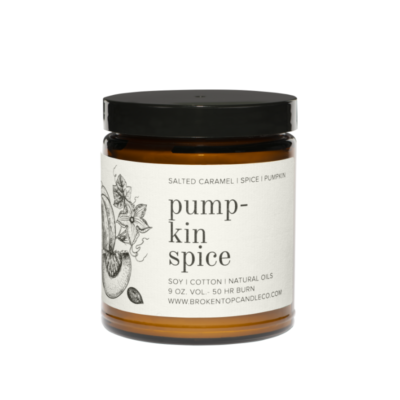 broken top candle pumpkin spice candle for fall