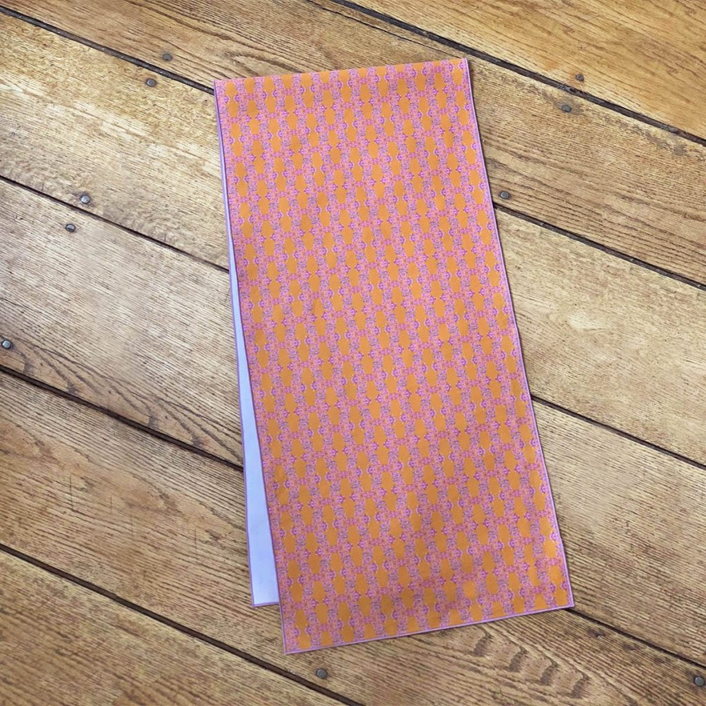 orange pattern organic cotton table runner for tables