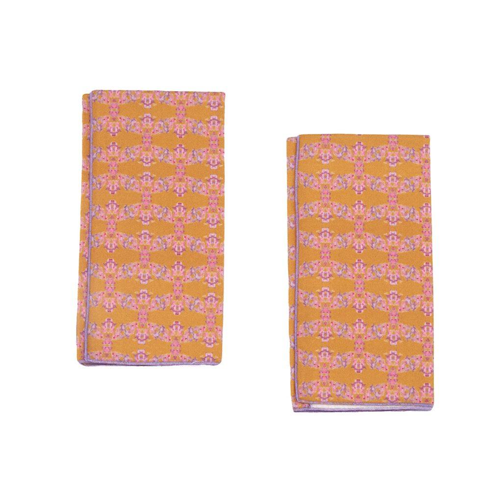 orange organic cotton 2 pack napkins